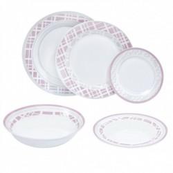 Σερβίτσιο φαγητού 20 τεμάχια ροζ-γκρι καρώ 687021