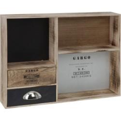 Ντουλαπάκι ξύλινο με 2 συρτάρια και 3 ραφάκια 451188