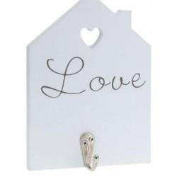 Κρεμάστρα-Κλειδοθήκη  H&S  Love λευκή 948359-C