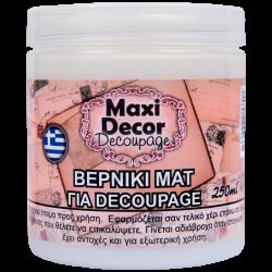 Βερνίκι ματ για decoupage 250ml Maxi Decor