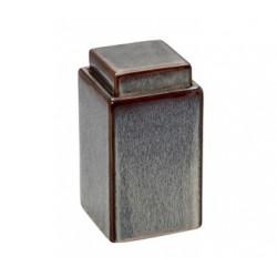 Βάζο κεραμικό (τζαρ) τετράγωνο με καπάκι ESPIEL ROG 313