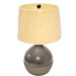 Λάμπα κεραμική μαύρη-καφέ στρογγυλή  με κορδόνι 61128
