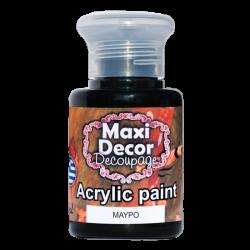 Ακρυλικό χρώμα 60 ml (ΜΑΥΡΟ) MAXI DECOR  MA-MAYRO