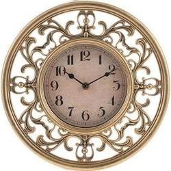 Ρολόι τοίχου πλαστικό χρυσό-μαύρο INART 3-20-828-0040