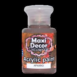 Ακρυλικό χρώμα 60 ml (ΑΡΧΑΙΚΟ) MAXI DECOR  MA-ARXAIKO