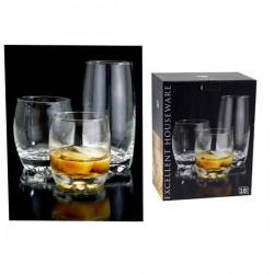 Ποτήρια γυάλινα σετ 18 διάφανα EH 320100