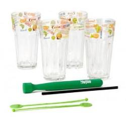 Ποτήρια γυάλινα σετ 4 για mojito 504228