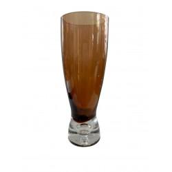 Ποτήρι μπύρας γυάλινο μελί με λευκή βάση ESPIEL Σετ 6 XDV1B