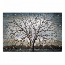 Πίνακας καμβάς δέντρο ασημί-χρυσό κορμός  INART 3-90-006-0157