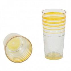 Ποτήρι νερού γυάλινο Σετ 6 διάφανο LEMON CERVE 62020