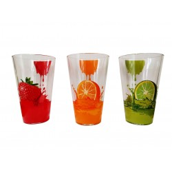 """Ποτήρι νερού γυάλινο Σετ 6 \""""FRUITS\"""" CERVE 15420"""