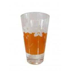 Ποτήρι νερού γυάλινο Σετ 6 πορτοκαλί με λουλούδια 711567