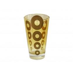 Ποτήρι νερού γυάλινο Σετ 6 κίτρινο με χρυσούς κύκλους CERVE 81230