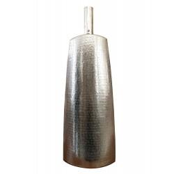 Βάζο δαπέδου μεταλλικό ασημί ανάγλυφο ESPIEL VAL1020