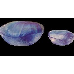 Παγωτού σετ/7 γυάλινο μπλε  LINDEN BATIK  96550