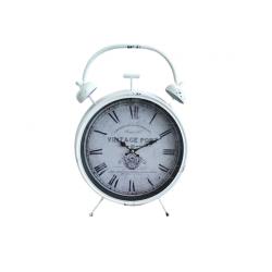 Ρολόι επιτραπέζιο μεταλλικό λευκό αντικέ 37εκ 933578