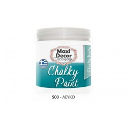 Χρώμα Κιμωλίας (Chalk paint ) Maxi Decor  (ΛΕΥΚΟ) 250ml  CHP-500