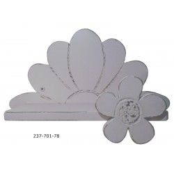 Ραφάκι λουλούδι ξύλινο ροζ 38εκ 237701-78