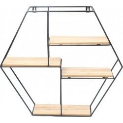 Ραφιερα τοίχου μεταλ/ξύλο 50x46 εκ INART 6-50-299-0013