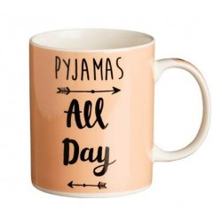 """Κούπα P&K με μηνύματα """"Pyjamas all day"""" πορσελάνη 380ml ΙΟΝΙΑ  8020225"""