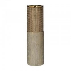 Βάζο κεραμικό χρυσό με στρας 11x40εκ Inart 3-70-129-0149