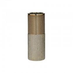 Βάζο κεραμικό χρυσό με στρας 11x30 Inart 3-70-129-0150