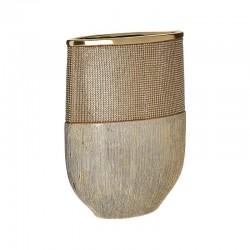 Βάζο κεραμικό χρυσό με στρας 21x9x28εκ Inart 3-70-129-0152
