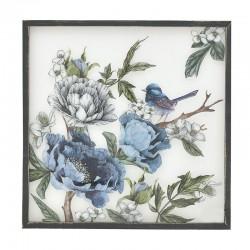 Πίνακας ξύλο/plexiglass λουλούδια 60Χ60εκ INART  3-90-242-0219