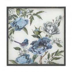 Πίνακας ξύλo/plexiglass λουλούδια  60Χ60εκ INART 3-90-242-0220