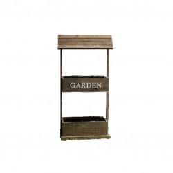 Βάση ξύλινη διπλή για γλαστράκια 38,5 x 23 x 83 εκ. JK Home Decoration 52349