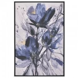 Πίνακας Printed Καμβάς μπλε λουλούδια 60χ90 INART 3-90-704-0036