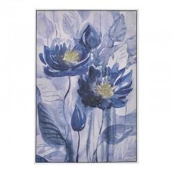 Πίνακας Printed Καμβάς μπλε λουλούδια 60χ90 INART 3-90-704-0044
