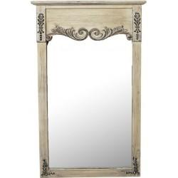 Καθρέπτης τοίχου ξύλινος εκρού «πόρτα» 61x6x110εκ. ESPIEL  ABO312