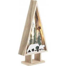 """Χριστουγεννιάτικη παράσταση-δέντρο με φως \""""δάσος\"""" 14,5χ6χ30 INART 2-70-093-0007"""