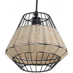 Φωτιστικό οροφής μεταλλικό/ραττάν μαύρο/natural INART 3-10-733-0003
