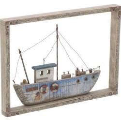Καράβι διακοσμητικό τοίχου ξύλινο 35χ3χ25 INART 4-70-727-0022