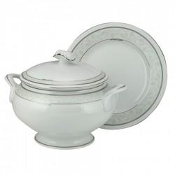 Σερβίτσιο φαγητού σετ 72 τεμαχίων πορσελάνη Diana  λευκό/πλατίνα WM Collection 6614