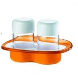 Αλατοπίπερο ακρυλικό σε βάση πορτοκαλί Guzzini 28350145