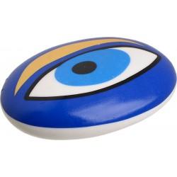 """Βότσαλο κεραμικό \""""μάτι\"""" μπλε 10χ7χ2,5 INART 3-70-146-0389"""