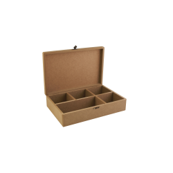 Kουτί MDF για decoupage με 5 θήκες  30Χ20Χ9  εκ  KT-56