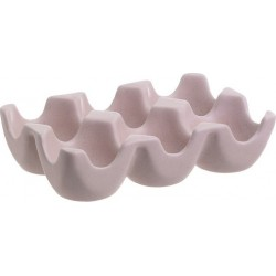 Αυγοθήκη κεραμική 6 θέσεις ροζ Inart 6-60-151-0029/B