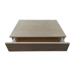 Κουτί-βιβλίο ξύλινο με συρτάρι 20χ14,5χ4,5 19944