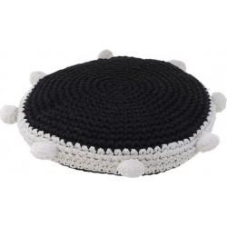 Μαξιλάρι δαπέδου μαύρο/λευκό Δ45χ15 INART 3-40-826-0030