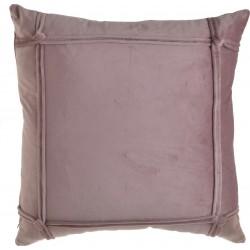 Μαξιλάρι βελούδο ροζ με σιρίτια  45χ45  INART 3-40-054-0033