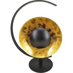 Φωτιστικό επιτραπέζιο  μεταλλικό μαύρο-χρυσό  35χ19χ45 Inart 3-15-848-0003