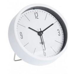 Ρολόι ξυπνητήρι  επιτραπέζιο λευκό  9Χ4 εκ JK Collection 453267-1
