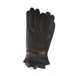 Γάντια συνθετικό δέρμα μαύρα MODISSIMO 22334-MEDIUM