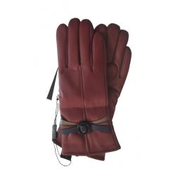 Γάντια συνθετικό δέρμα μπορντώ MODISSIMO 22334B-LARGE