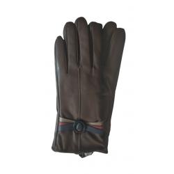 Γάντια συνθετικό δέρμα καφέ MODISSIMO 22334K-LARGE