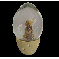Χιονόμπαλα αυγό με λαγουδάκι κίτρινο 6,50 εκ JK HOME 455292-2